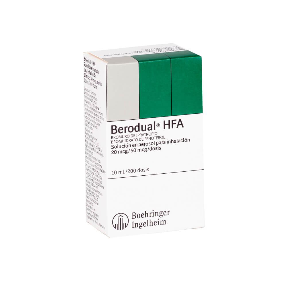 berodual hfa x 200 dosis solución en aerosol para inhalación