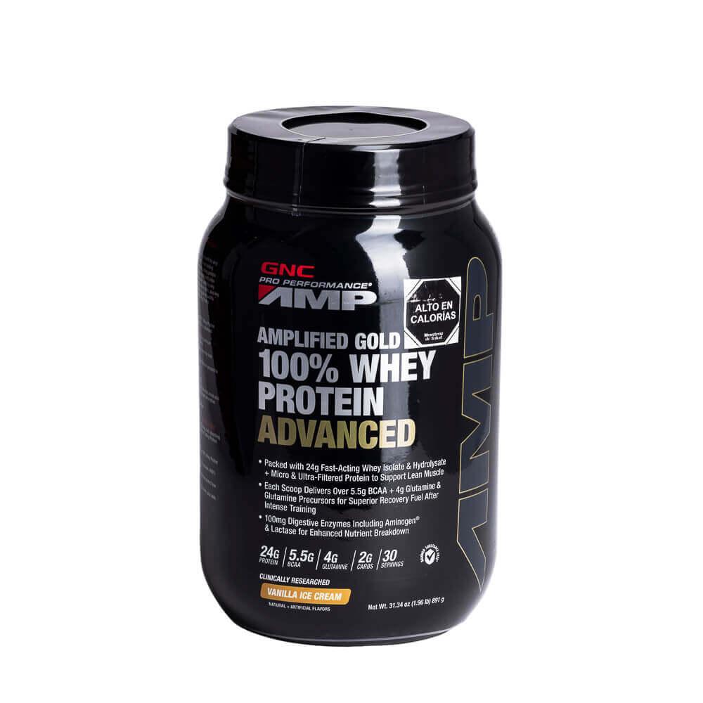 100% whey protein advanced vainilla x 909 g polvo para suspensión oral