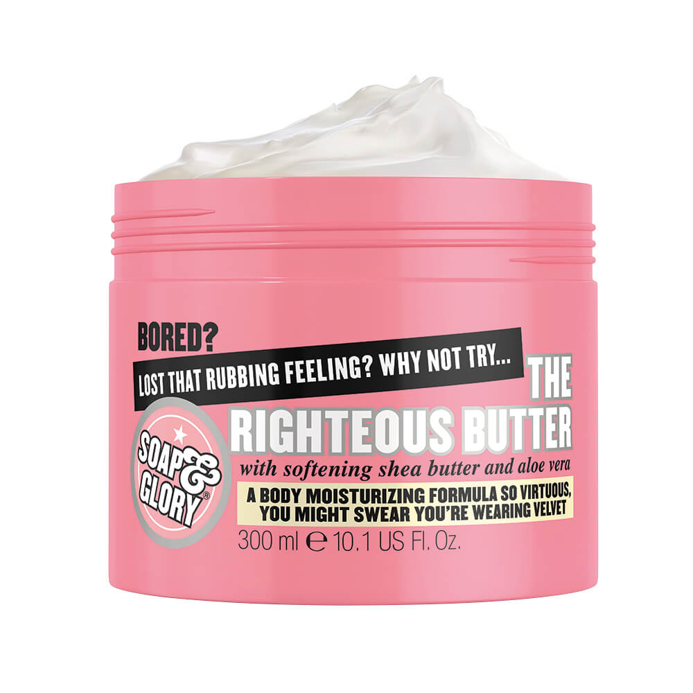 soap & glory crema body butter pink righteous x 300 ml