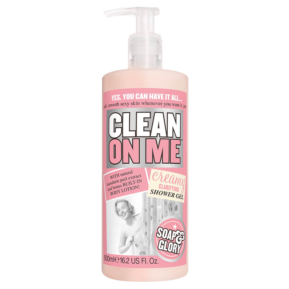 soap & glory gel de ducha clean on me x 500 ml