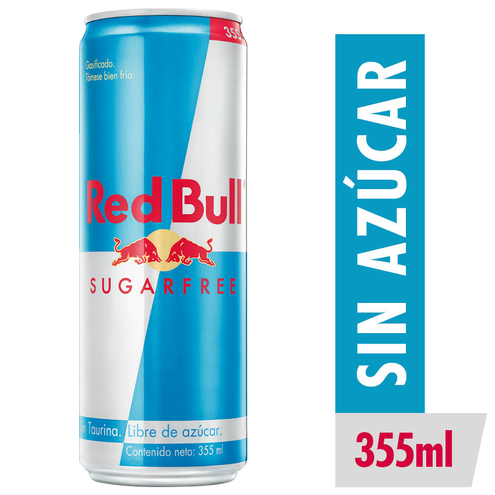 red bull lata energética sugar free x 350 ml