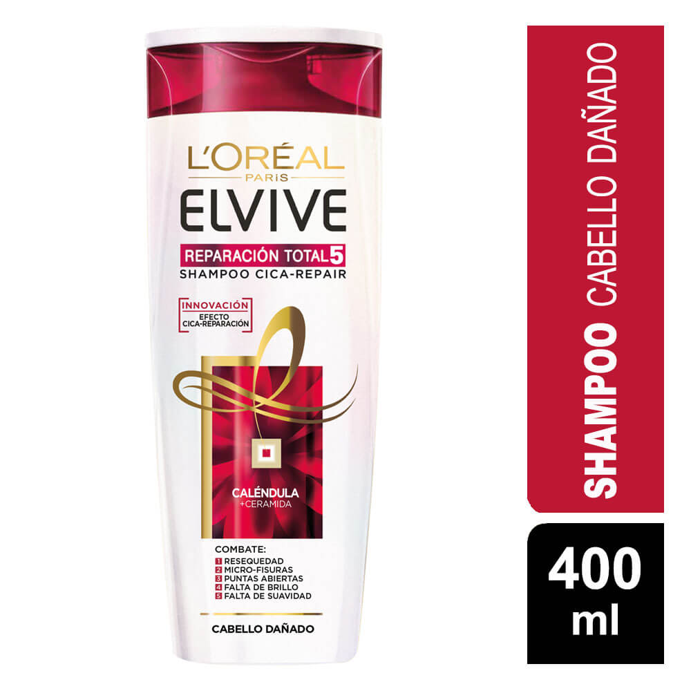 elvive shampoo reparación total 5 x 400 ml