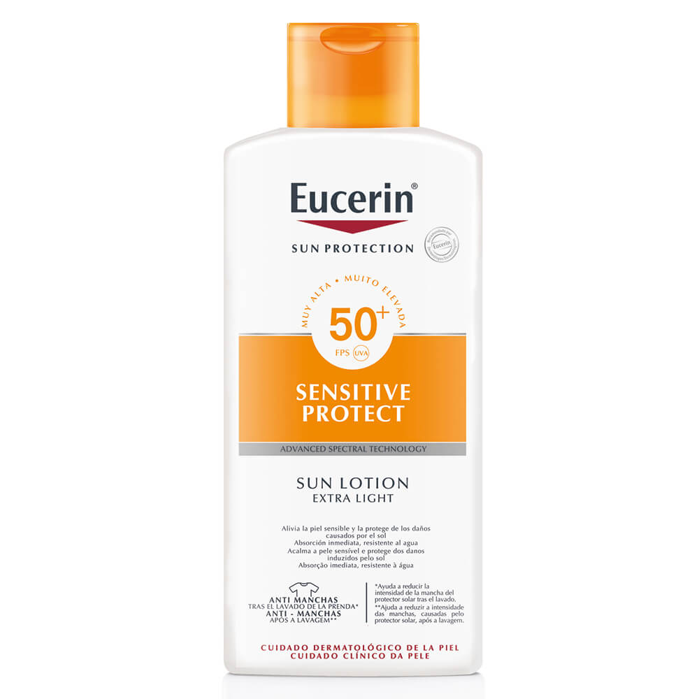 eucerin protector solar loción textura ligera fps 50+ x 400 ml