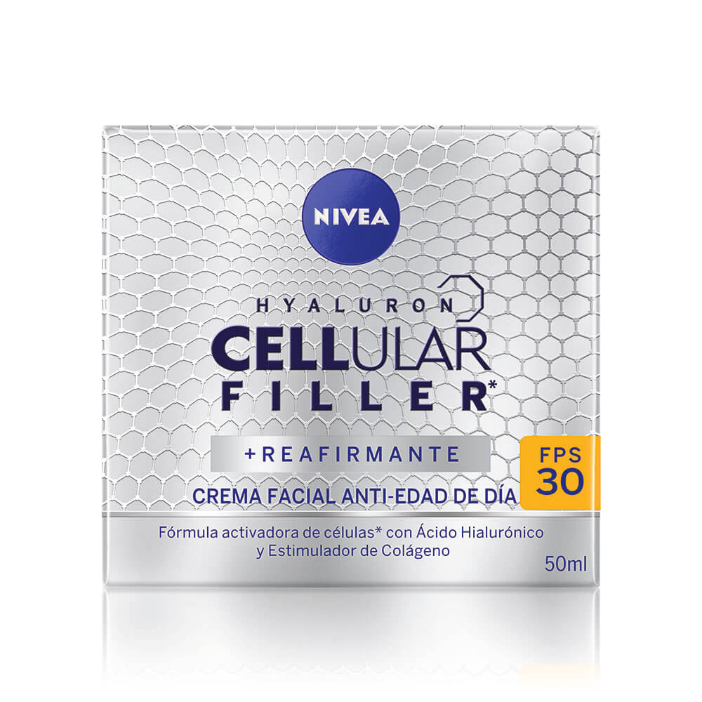 nivea hyaluron cellular filler crema facial anti edad día fps 30 x 50 ml