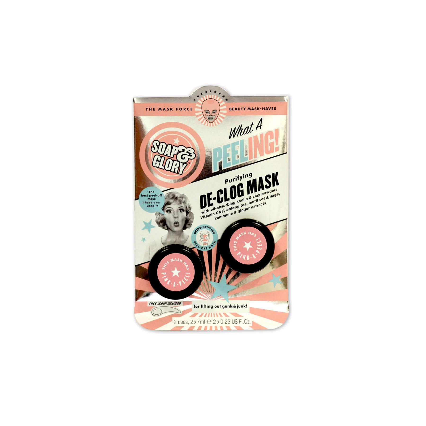 soap & glory máscara facial de-clog mask x 2 unidades