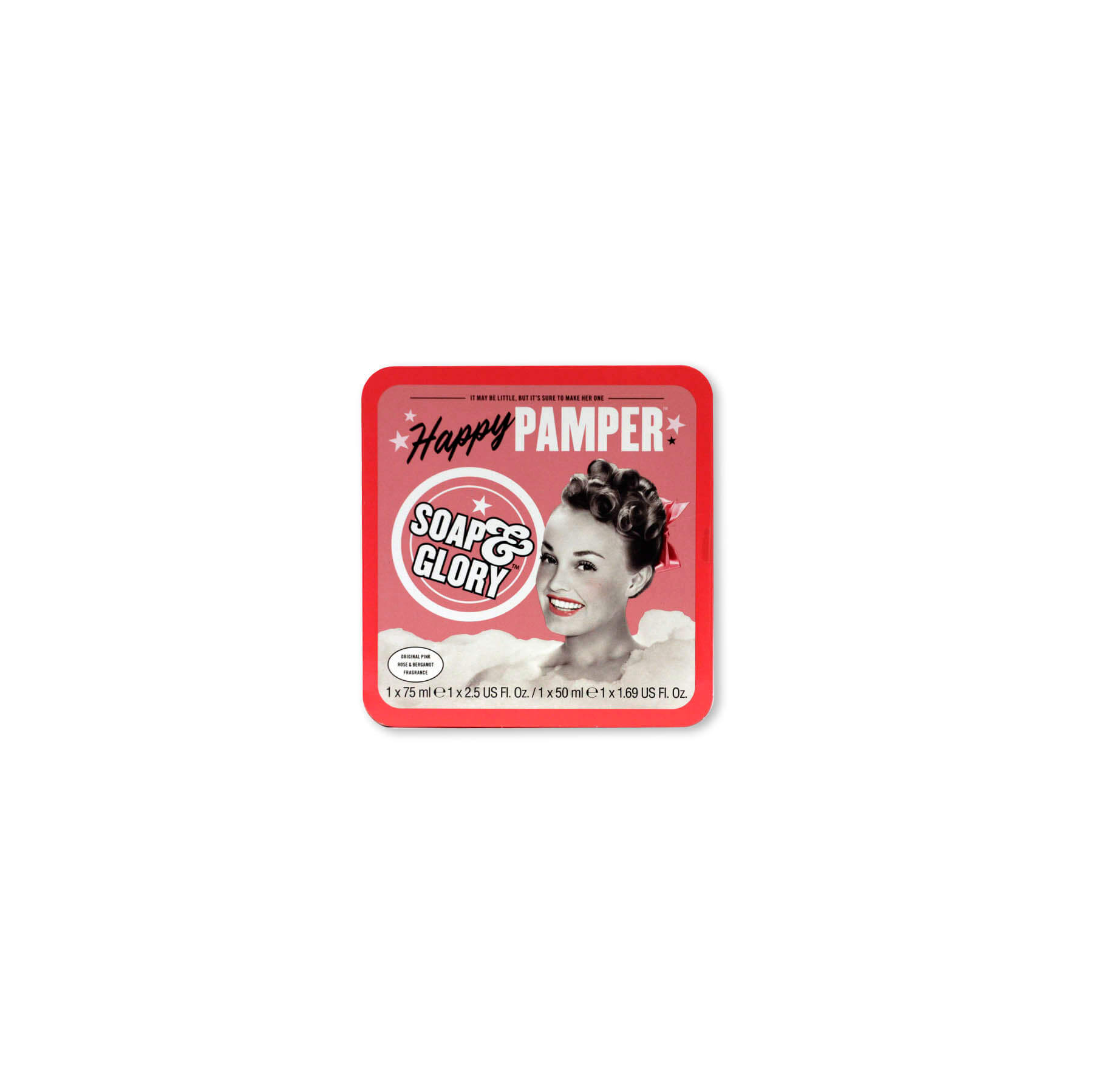 soap & glory set happy pamper x 2 unidades