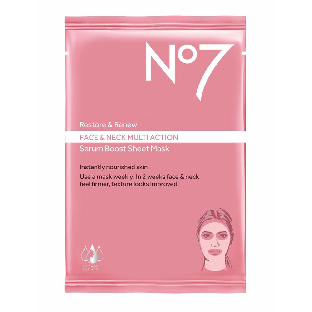 no 7 mascarilla serum restore & renew x 23 g