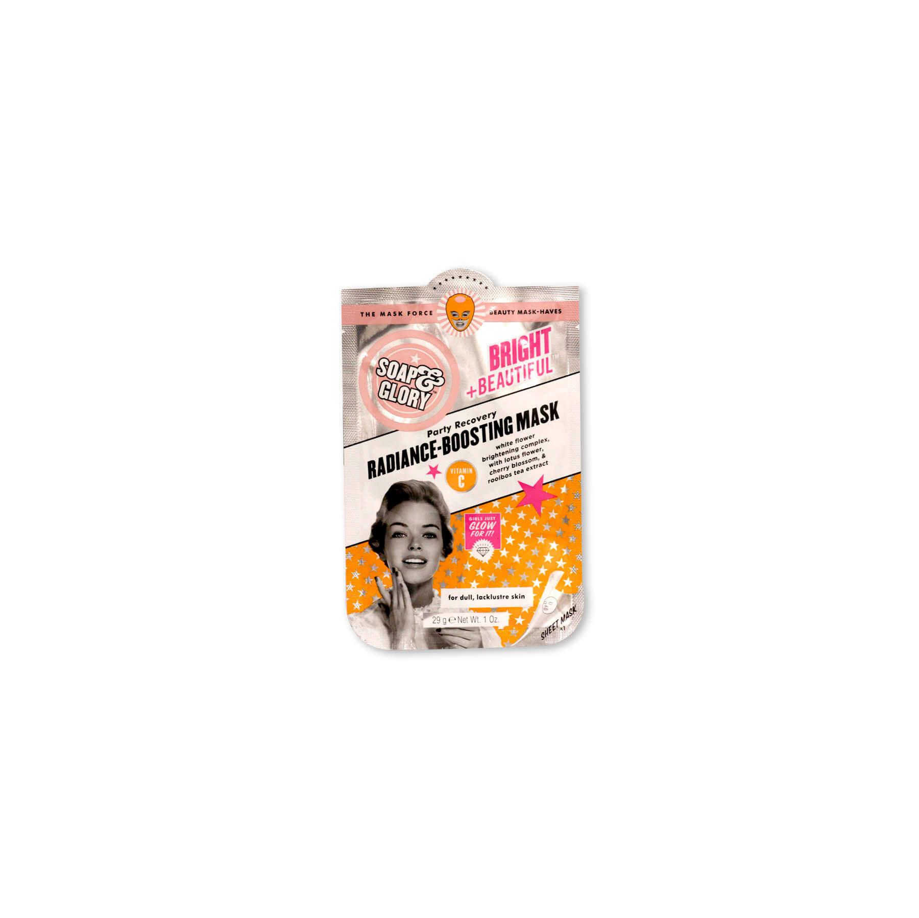 soap & glory mascarilla facial radiance boosting x 1 unidad