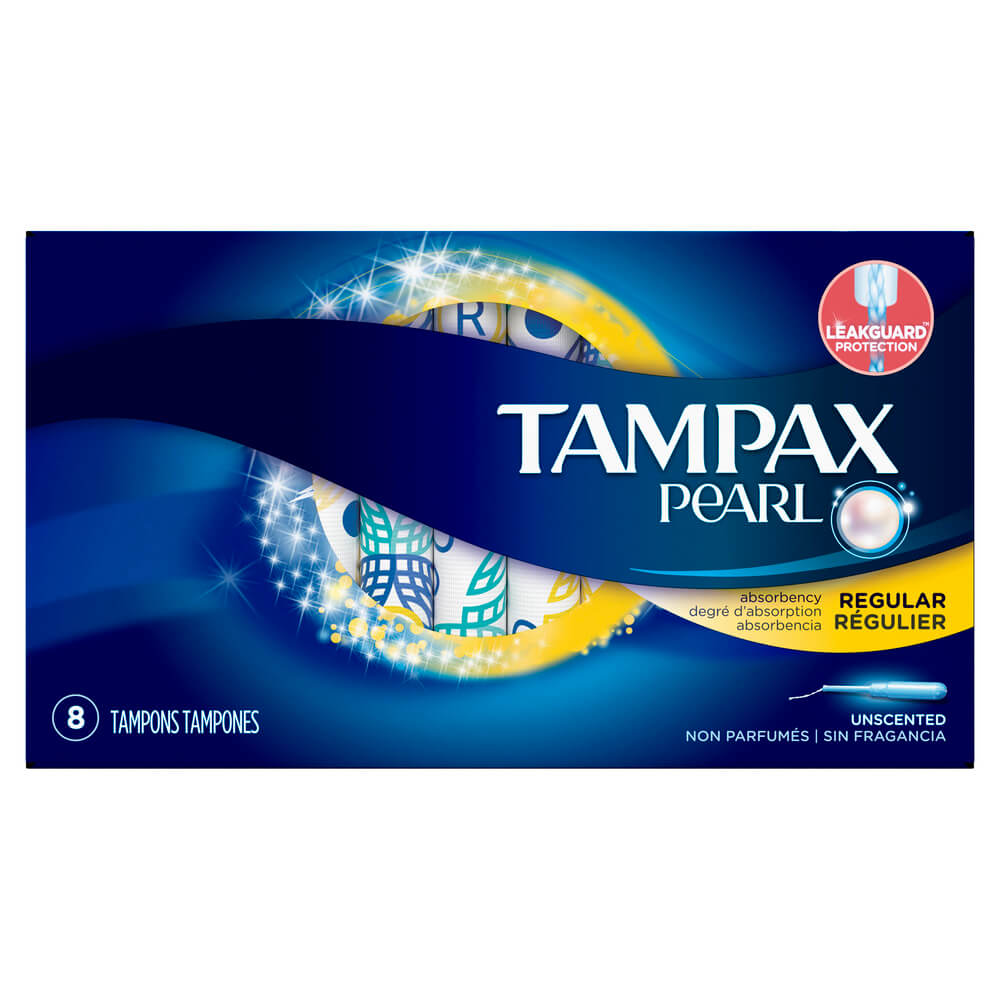 tampax pearl tampon regular x 8 unidades