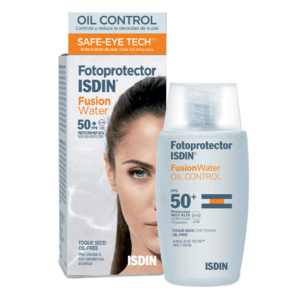 isdin® fotoprotector fusion water oil control fps 50+ x 50ml