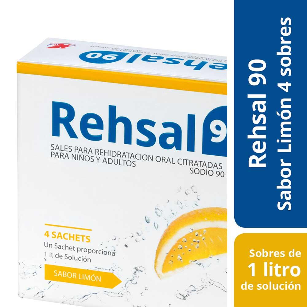 rehsal 90 x 4 sobres polvo para solución oral