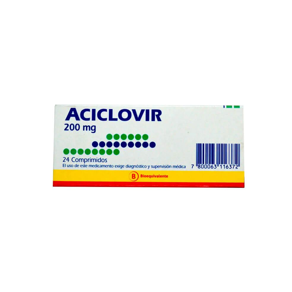 aciclovir 200 mg x 24 comprimidos