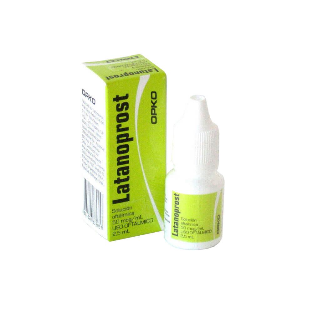 latanoprost 50 mcg/ml x 2,5 ml solución oftálmica