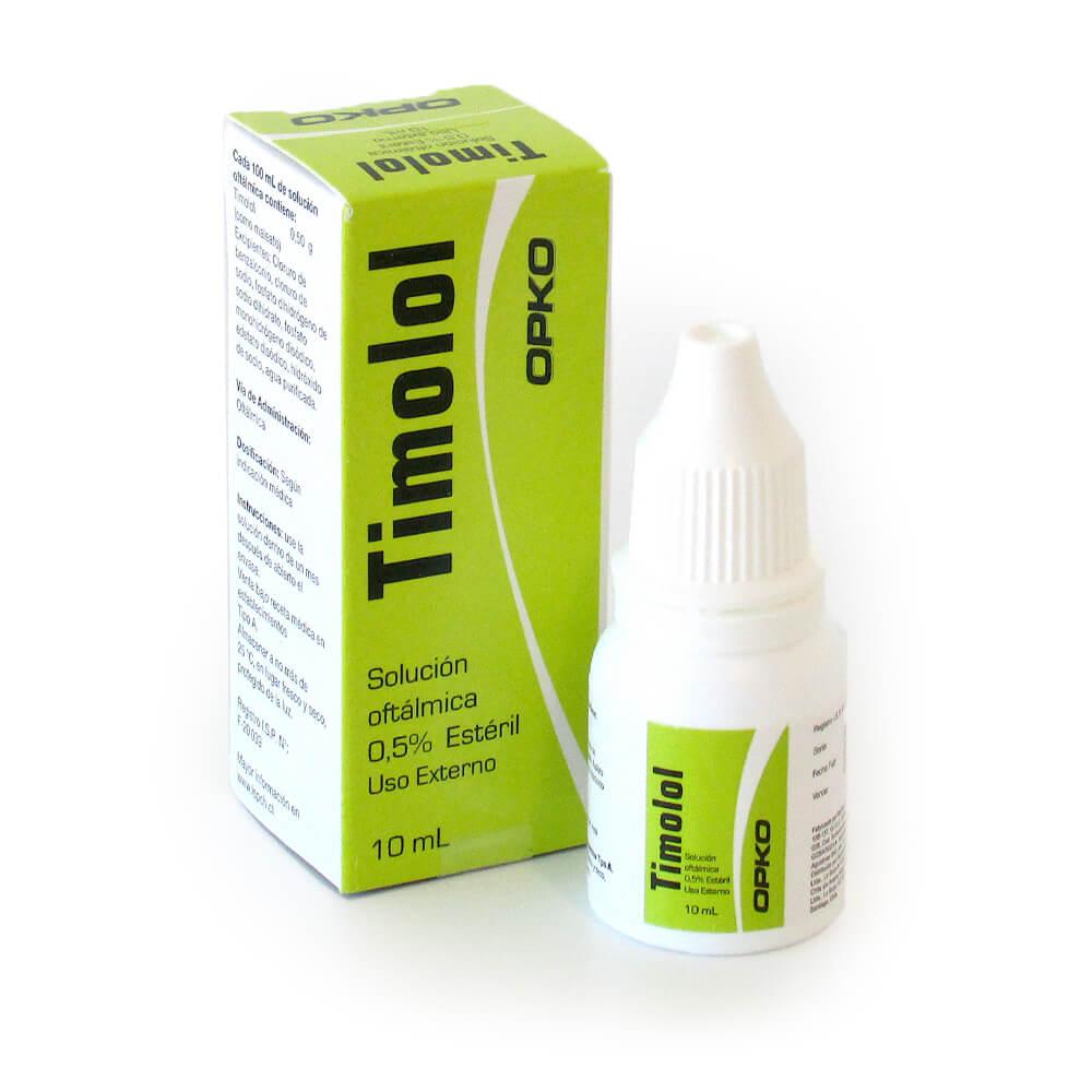 timolol maleato 0,5% x 10 ml solucion oftalmica