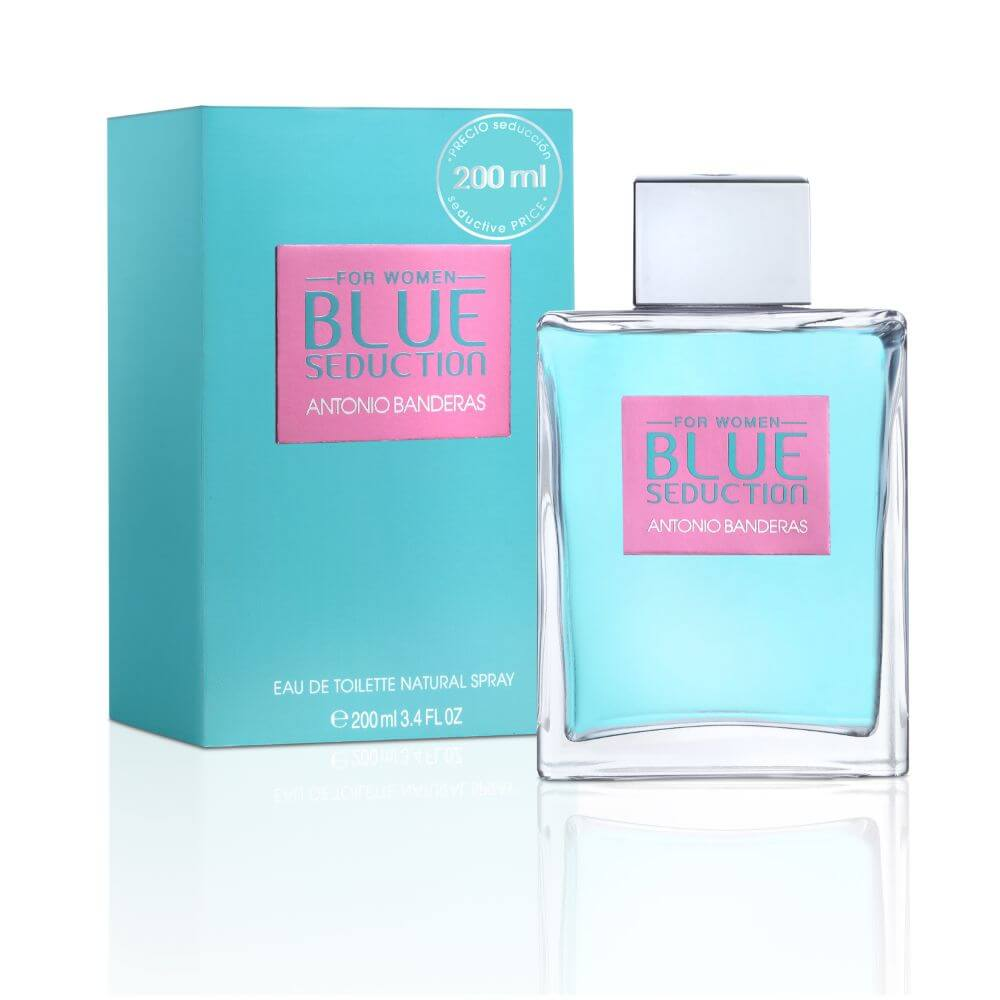 antonio banderas eau de toilette blue seduction for woman con atomizador x 200 ml