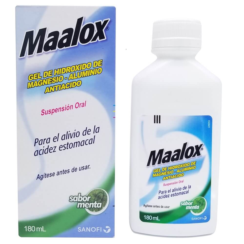 maalox x 180 ml suspensión oral