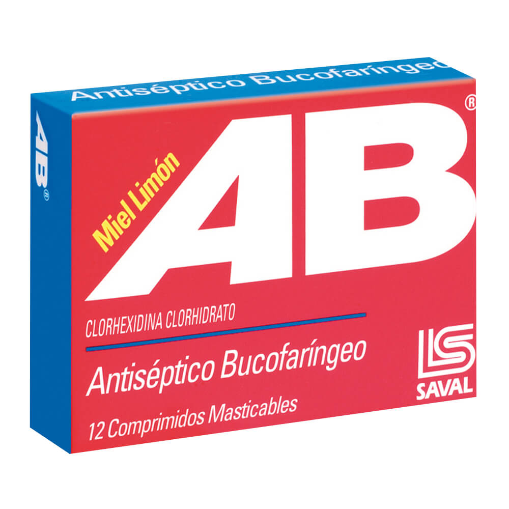ab 5 mg antiseptico bucal x 12 comprimidos masticables