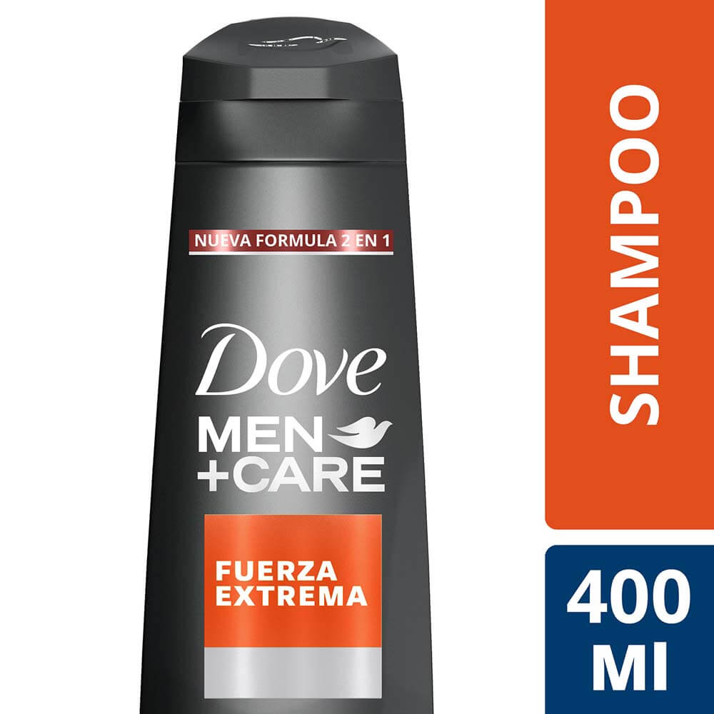 dove men shampoo fuerza extrema x 400 ml