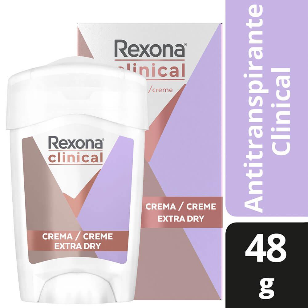 rexona clinical desodorante crema extra dry x 48 g