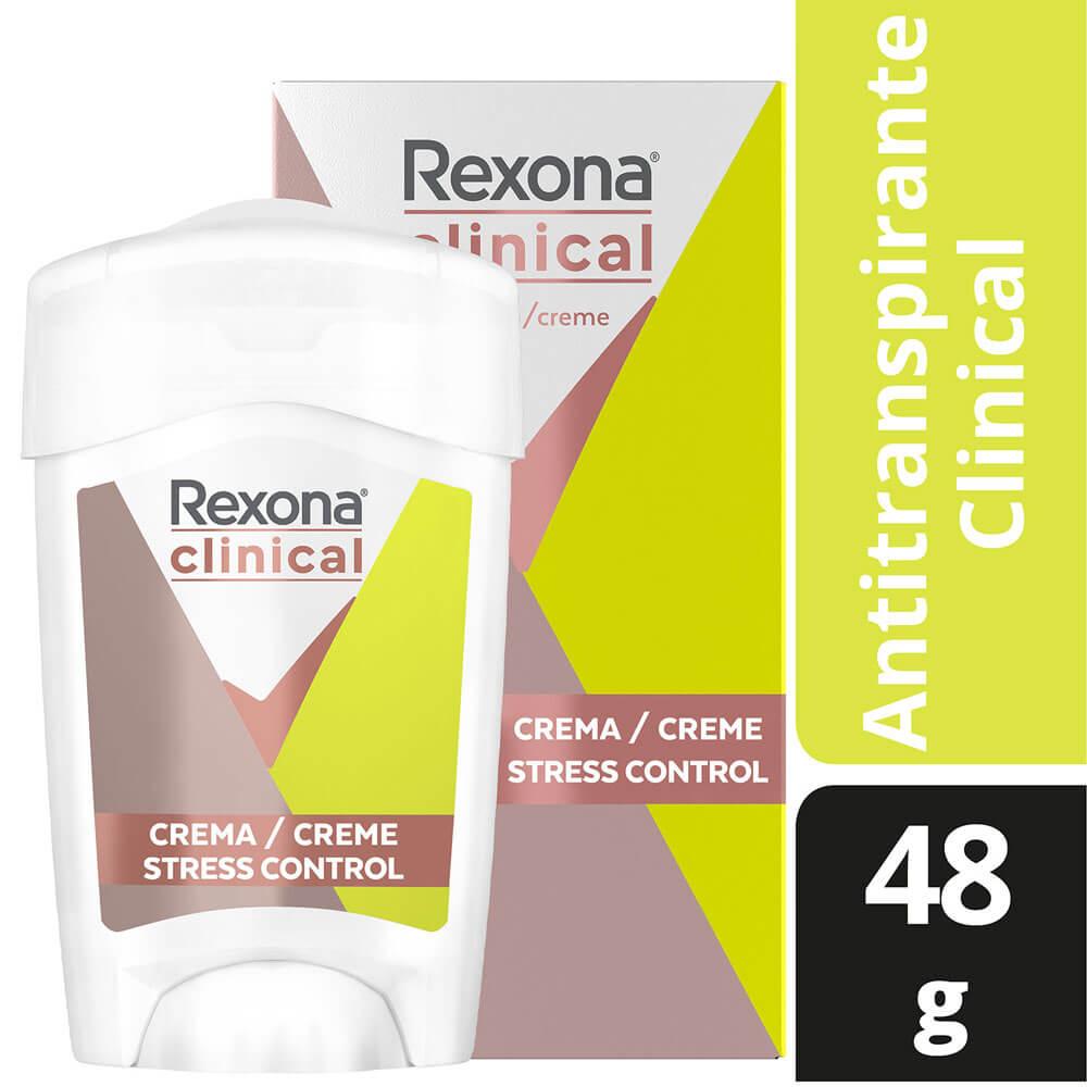 rexona desodorante crema clinical stress control x 48 g