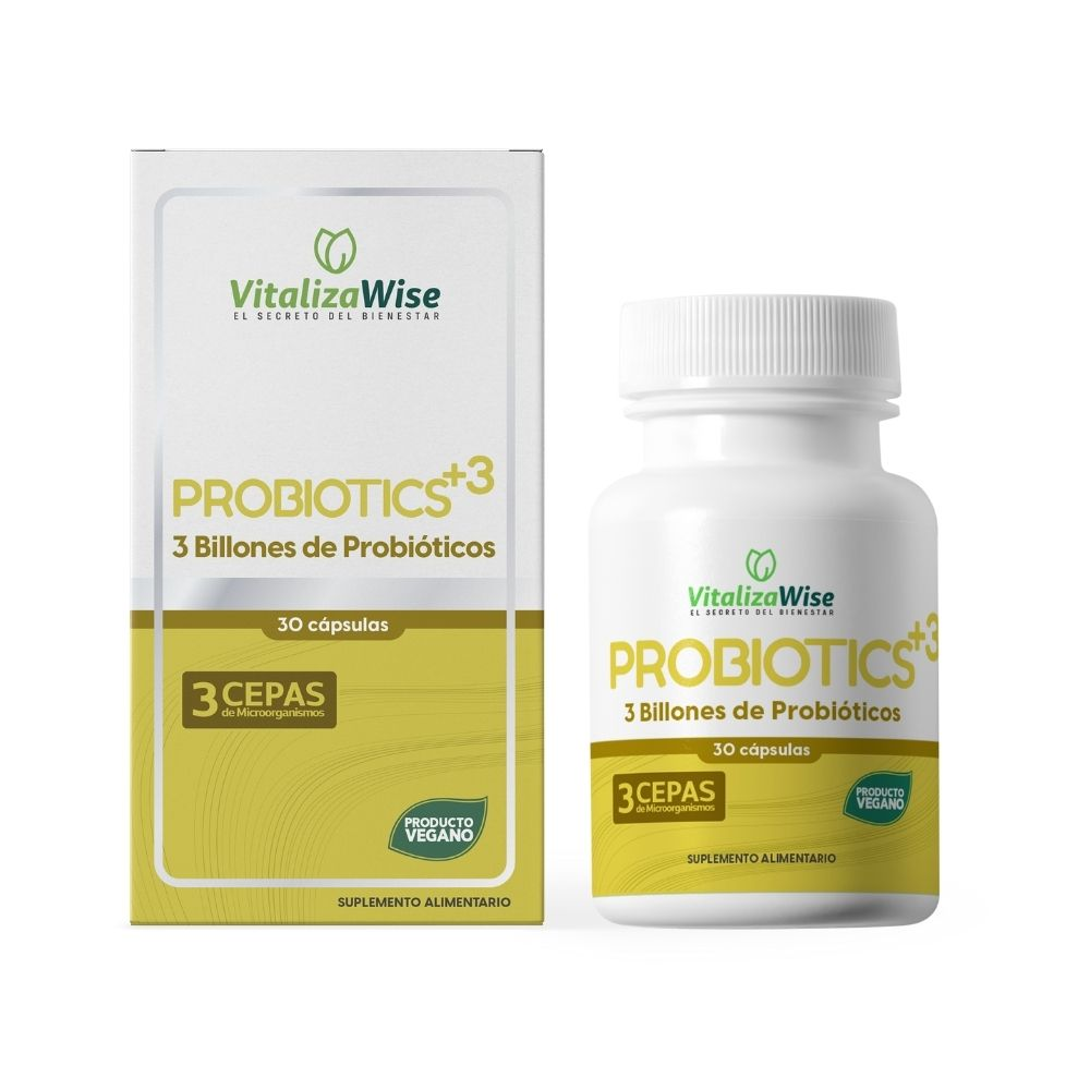 vitalizawise  probiotics +3 x 30 capsulas