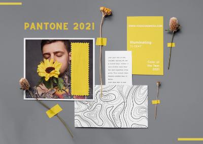 Cores do ano 2021 da Pantone
