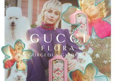Miley Cyrus na Gucci Flora