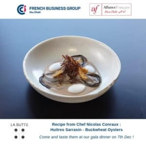 Recipe from Chef Nicolas Conraux : Buckwheat Oysters
