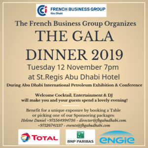 Early Bird Offer for The French Business Group Gala Dinner 2019