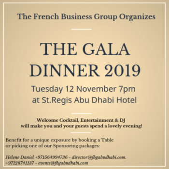 The French Business Group Gala Dinner 2019