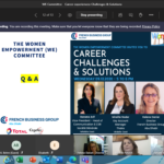 Career Challenges and Solutions By WE Committee 12.2020