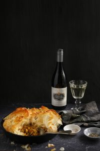 Food and wine pairing with Fleur du Cap Series Privee Chardonnay white wine and Chickpea and Curry Chicken pie