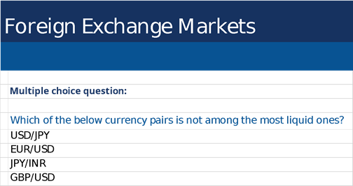 Foreign Exchange Market Multiple Choice Question