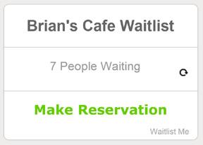 reservations widget