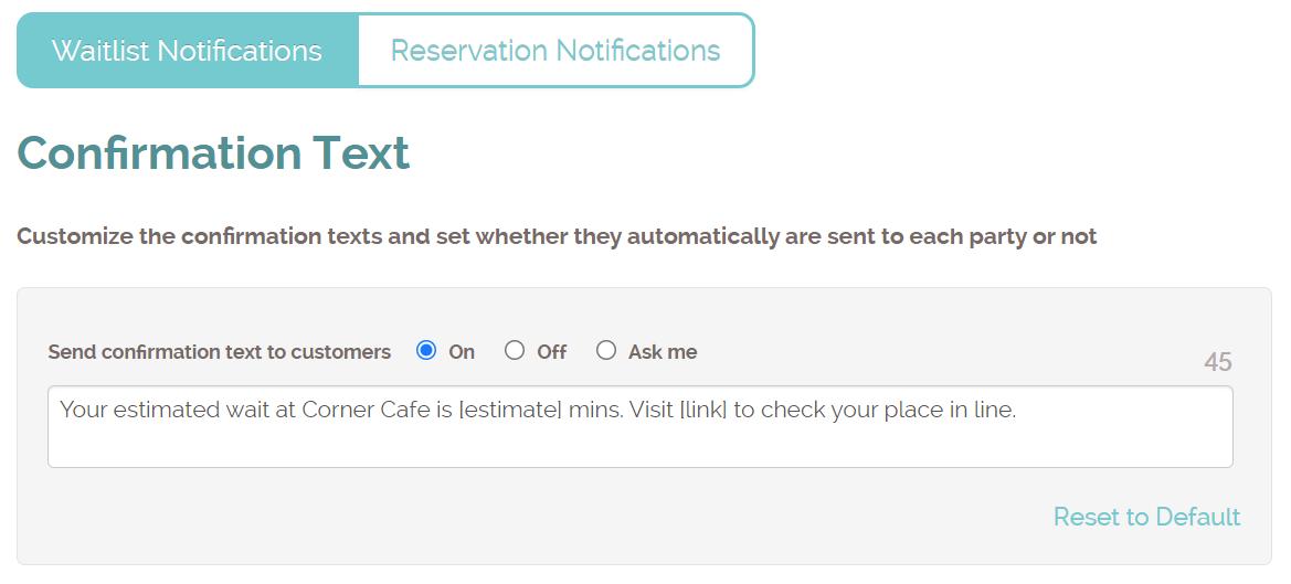 phone notification setting
