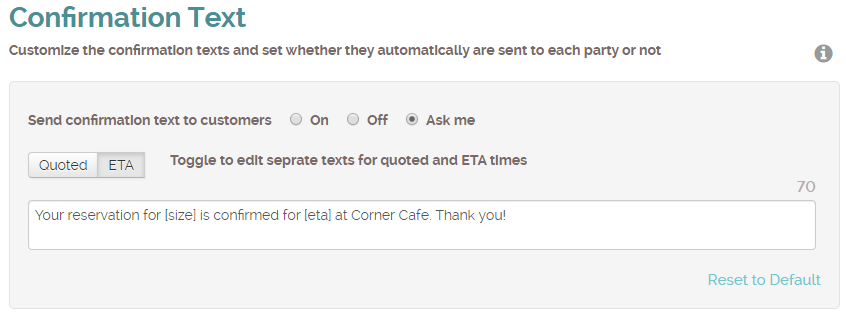 ETA notification