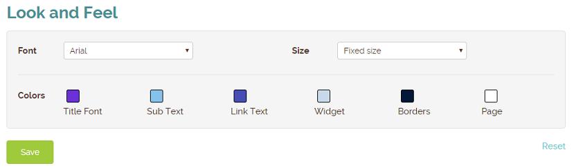 widget colors