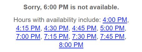 widget availability times