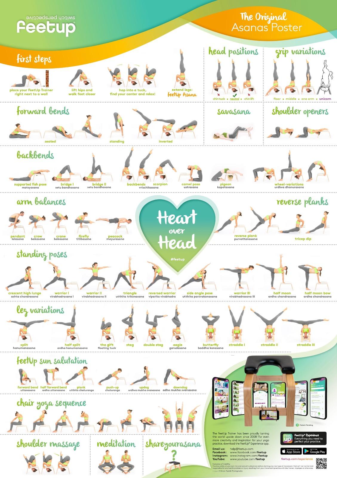 FeetUp Yoga Asanas Poster