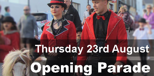 Opening parade thursday 23rd august