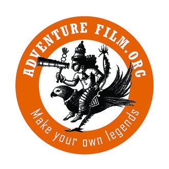 Adventure film logo sticker 1