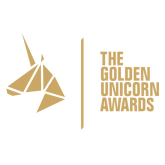 Goldent unicorn logo square