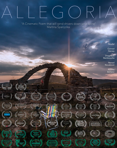 Allegoria poster vertical with text english