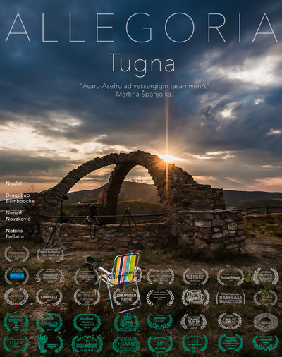 Allegoria tugna poster vertical with text kabyle