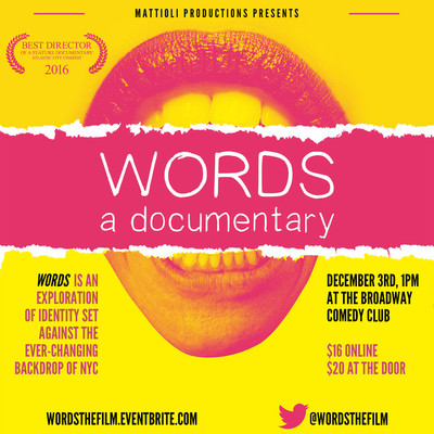 Words square flyer
