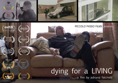 Dying for living film poster with laurels flatten 150