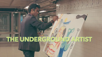 The underground artist theater poster