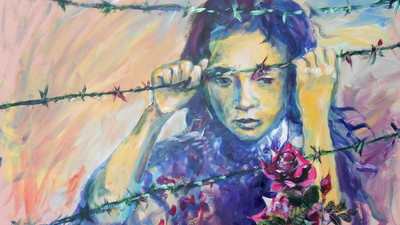 Malka rose thorns barbed wire