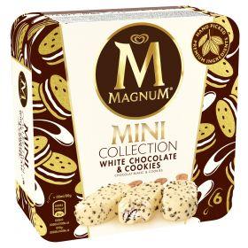 MAGNUM MINI XOCOLATA BLANCA & COOKIES 6 UN