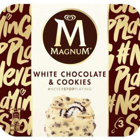 MAGNUM CHOCOLATE BLANCO & COOKIES 3 UN